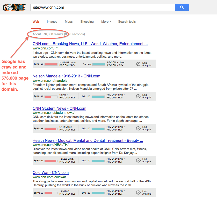 how to tell if google is crawling your website